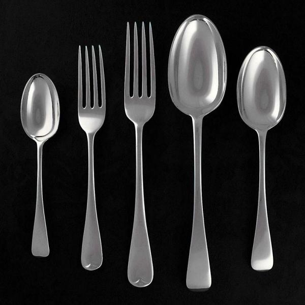 Sterling Silver Cutlery / Flatware Set. Old English Pattern. Hallmarked London 1906, Jackson & Fullerton - B4521 Image 1