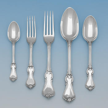Sterling Silver Cutlery / Flatware Set. Albert Pattern. Hallmarked London 1846 - 1871, George Adams - D9010 Image 1