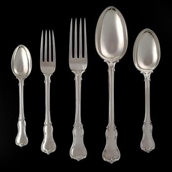 Sterling Silver Cutlery / Flatware Set. Princes Pattern. Hallmarked London 1866 - 1882, George Adams - Fx123 Image 1