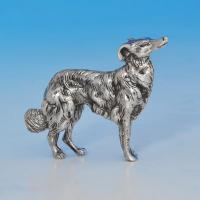 B0948e:  Sterling Silver Dog - Unknown Made Circa 1920 Unknown - George V - Image 1