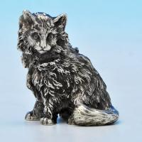 B1226:  Sterling Silver Cat - The London Assay Office Hallmarked In 2012 London - Elizabeth II - Image 1