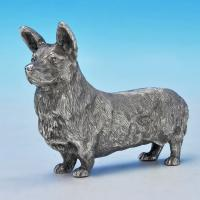 B2513:  Sterling Silver Corgi - BSE Products Hallmarked In 1977 London - Elizabeth II - Image 1