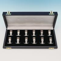 B8638: Antique Sterling Silver Place Card Holders - S. Morden & Co Hallmarked In 1906 Chester - Edwardian - Image 1