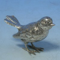 d6970: Sterling Silver Wren Pepper Pot - Berthold Muller Hallmarked In 1910 Chester - George V  - image 1