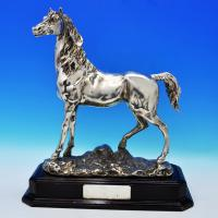 J9300:  Sterling Silver Horse - Unknown Hallmarked In 1920 Unknown - George V - Image 1