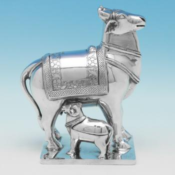 L0641: Antique Sterling Silver Animals - Henry Atkins Hallmarked In 1897 Sheffield - Victorian - Image 1