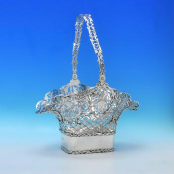 B2936: Antique Sterling Silver Basket - Elkington Hallmarked In 1907 London - Edwardian - Image 1