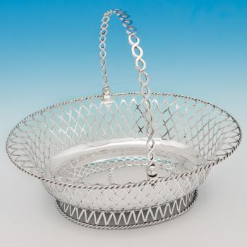 B6175: Antique Sterling Silver Baskets - Charles Stuart Harris Hallmarked In 1909 London - Edwardian - Image 1