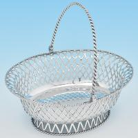 B7693: Antique Sterling Silver Baskets - Charles Stuart Harris Hallmarked In 1909 London - Edwardian - Image 1