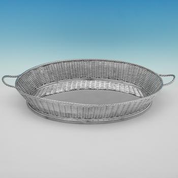 B9944: Antique Silver Plate Basket - Leuchars & Son Made Circa 1910 London - Edwardian - Image 1