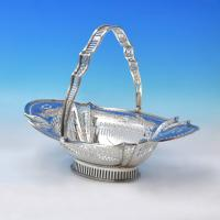 D3077:  Sterling Silver Baskets - William Hutton Hallmarked In 1919 Sheffield - George V - Image 1