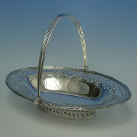 e4513: Antique Sterling Silver Baskets - Garrards & Co. Hallmarked In 1908 London - Edwardian - image 1