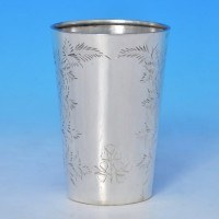 b0081: Antique Sterling Silver Beaker - Hallmarked In 1883 London - Victorian - image 1