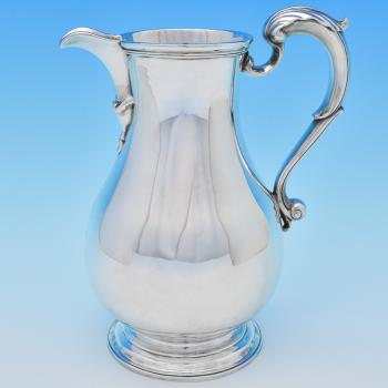 B7739: Antique Sterling Silver Beer Jugs - Fuller White Hallmarked In 1763 London - Georgian - Image 1