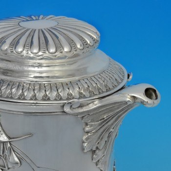 j5559: Antique Sterling Silver Beer Jug - J. N Mappin Hallmarked In 1890 London - Victorian - image 2