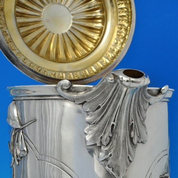 j5559: Antique Sterling Silver Beer Jug - J. N Mappin Hallmarked In 1890 London - Victorian - image 3