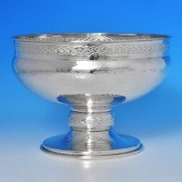 b0256: Sterling Silver Bowl - A. E. Jones Hallmarked In 1925 Birmingham - George V  - image 1