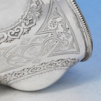 B1475: Antique Sterling Silver Bowl - Martin Hall & Co. Hallmarked In 1872 Sheffield - Victorian - Image 2