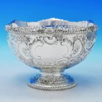 B2430: Antique Sterling Silver Bowl - Henry Atkins Hallmarked In 1906 Sheffield - Edwardian - Image 1