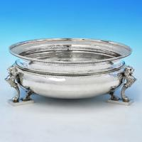 B2935:  Sterling Silver Bowl - Charles Boyton Hallmarked In 1937 London - George VI - Image 1