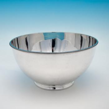 B4741: Antique Sterling Silver Bowl - William Comyns Hallmarked In 1898 London - Victorian - Image 1