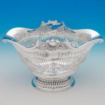 B6174: Antique Sterling Silver Bowls - Francis Boone Thomas Hallmarked In 1891 London - Victorian - Image 1