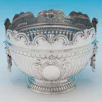 B6199: Antique Sterling Silver Bowls - Barnard Brothers Hallmarked In 1892 London - Victorian - Image 1
