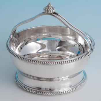 B6402: Antique Sterling Silver Bowl - Unknown Hallmarked In 1901 London - Victorian - Image 1