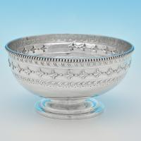 B6823: Antique Sterling Silver Bowl - Charles Boyton Hallmarked In 1875 London - Victorian - Image 1