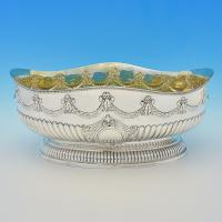 B7114: Antique Sterling Silver Bowl - Martin Hall & Co. Hallmarked In 1886 London - Victorian - Image 1