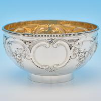 B8193: Antique Sterling Silver Bowls - Frederick Brasted Hallmarked In 1872 London - Victorian - Image 1