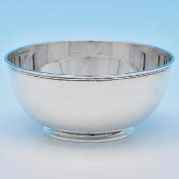 B8261: Antique Sterling Silver Bowls - Thomas Bradbury And John Henderson Hallmarked In 1886 London - Victorian - Image 1