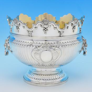 B8497: Antique Sterling Silver Bowls - Job Frank Hall Hallmarked In 1899 London - Victorian - Image 1
