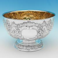 B8709: Antique Sterling Silver Bowls - Williams Of Birmingham Ltd Hallmarked In 1905 Birmingham - Edwardian - Image 1