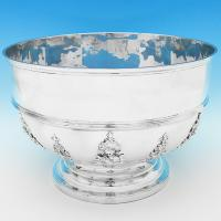 B9203: Antique Sterling Silver Bowls - C S Harris Hallmarked In 1898 London - Victorian - Image 1