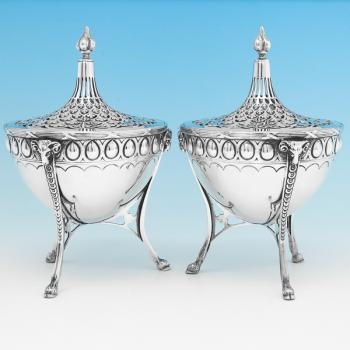B9208: Antique Sterling Silver Dishes - S. Blanckensee&Sons Hallmarked In 1902 London - Edwardian - Image 1