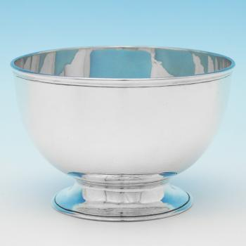 B9338: Antique Sterling Silver Bowls - Robert Garrard Hallmarked In 1862 London - Victorian - Image 1