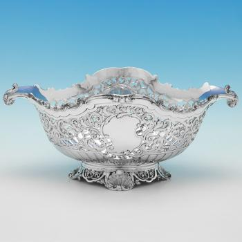 B9560: Antique Sterling Silver Bowl - Gibson & Langland Hallmarked In 1897 London - Victorian - Image 1