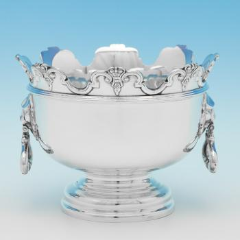 B9720: Antique Sterling Silver Bowls - Hawksworth Eyres & Co Hallmarked In 1905 London - Edwardian - Image 1
