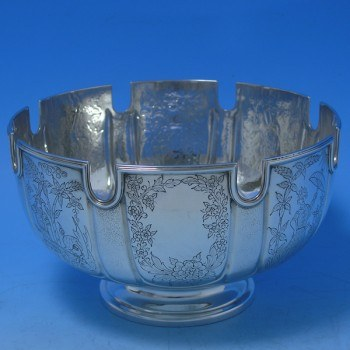 d8812: Sterling Silver Bowl - Goldsmiths & Silversmiths Co. Hallmarked In 1913 London - George V  - image 1