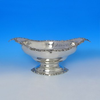 e3243: Antique Sterling Silver Bowl - C. C. Pilling Hallmarked In 1909 Sheffield - Edwardian - image 1