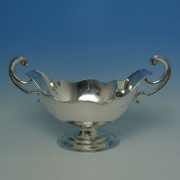 e6275: Antique Sterling Silver Bowls - Jackson & Fullerton Hallmarked In 1907 London - Edwardian - image 1