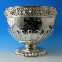 j0254: Antique Sterling Silver Bowl - Walker & Hall Hallmarked In 1898 Sheffield - Victorian - image 1