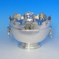 j3700: Sterling Silver Bowl - L. A. Crighton Hallmarked In 1918 London - George V  - image 1