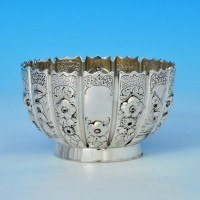 j6568: Antique Sterling Silver Bowl - F. B. Thomas Hallmarked In 1877 London - Victorian - image 1