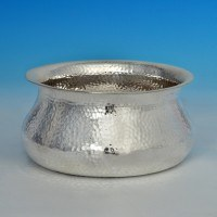 j6698: Antique Sterling Silver Bowl - Goldsmiths & Silversmiths Co. Hallmarked In 1906 London - Edwardian - image 1