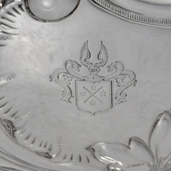 j9051: Antique Sterling Silver Bowl - William & Angus Fraser Hallmarked In 1897 London - Victorian - image 2