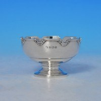 j9111: Sterling Silver Bowl - William Neale & Sons Hallmarked In 1937 Birmingham - George VI  - image 1