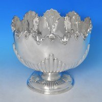 j9452: Sterling Silver Bowl - Alexander Clark Co. Hallmarked In 1949 Birmingham - George VI  - image 1