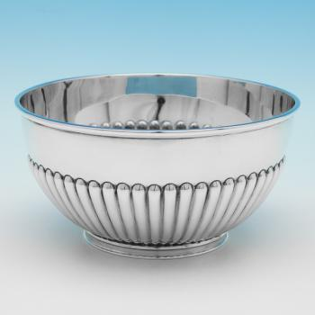 L0056: Antique Sterling Silver Bowl - Goldsmiths & Silversmiths Co. Hallmarked In 1903 London - Edwardian - Image 1